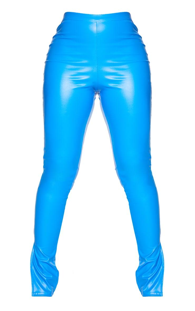 Shape Blue PU Split Hem Trousers 5