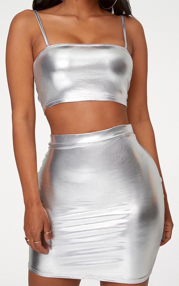 Shape Silver Metallic Bralet 4