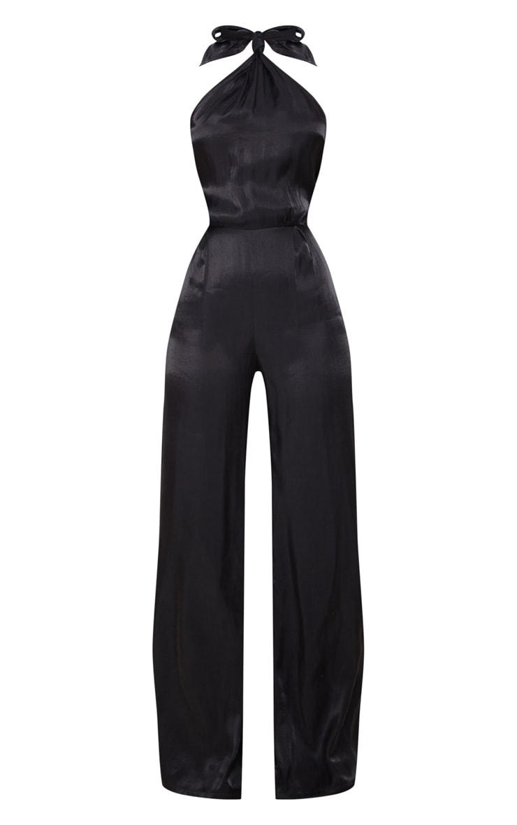 Black Knot Halterneck Shimmer Jumpsuit 5