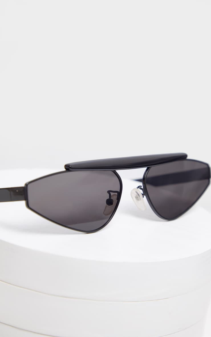 Black Brow Bar Slim Almond Lens Sunglasses 2