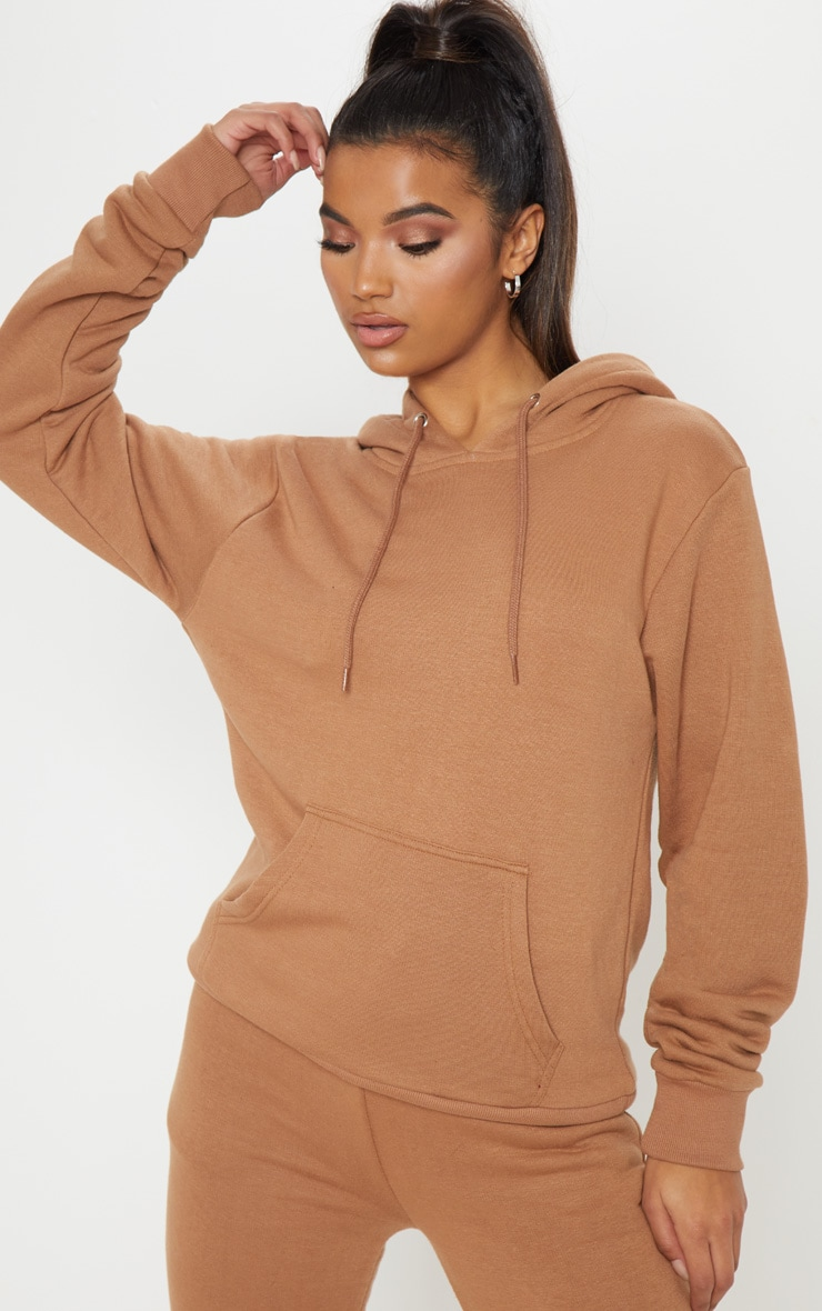 Taupe Oversized Hoodie 1