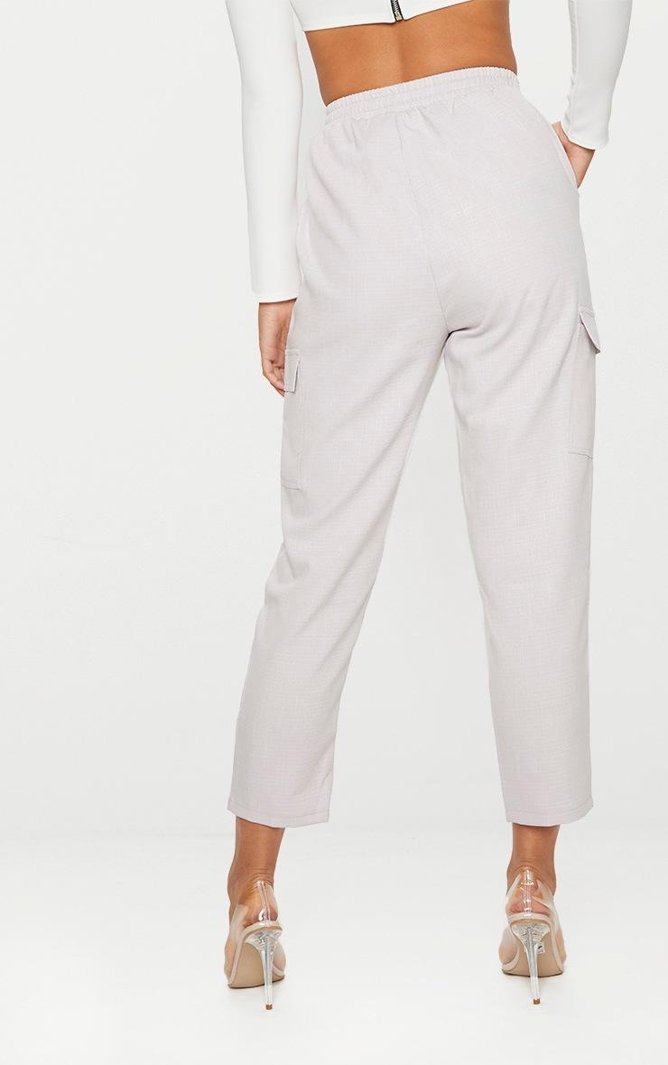 Grey Diya Cargo Pocket Casual Trouser 4