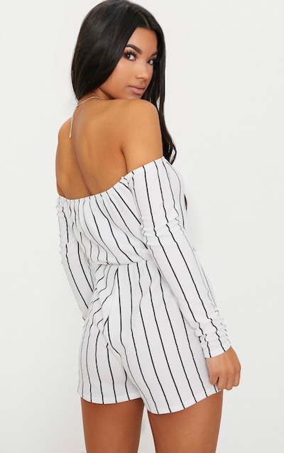 Micah White Stripe Playsuit