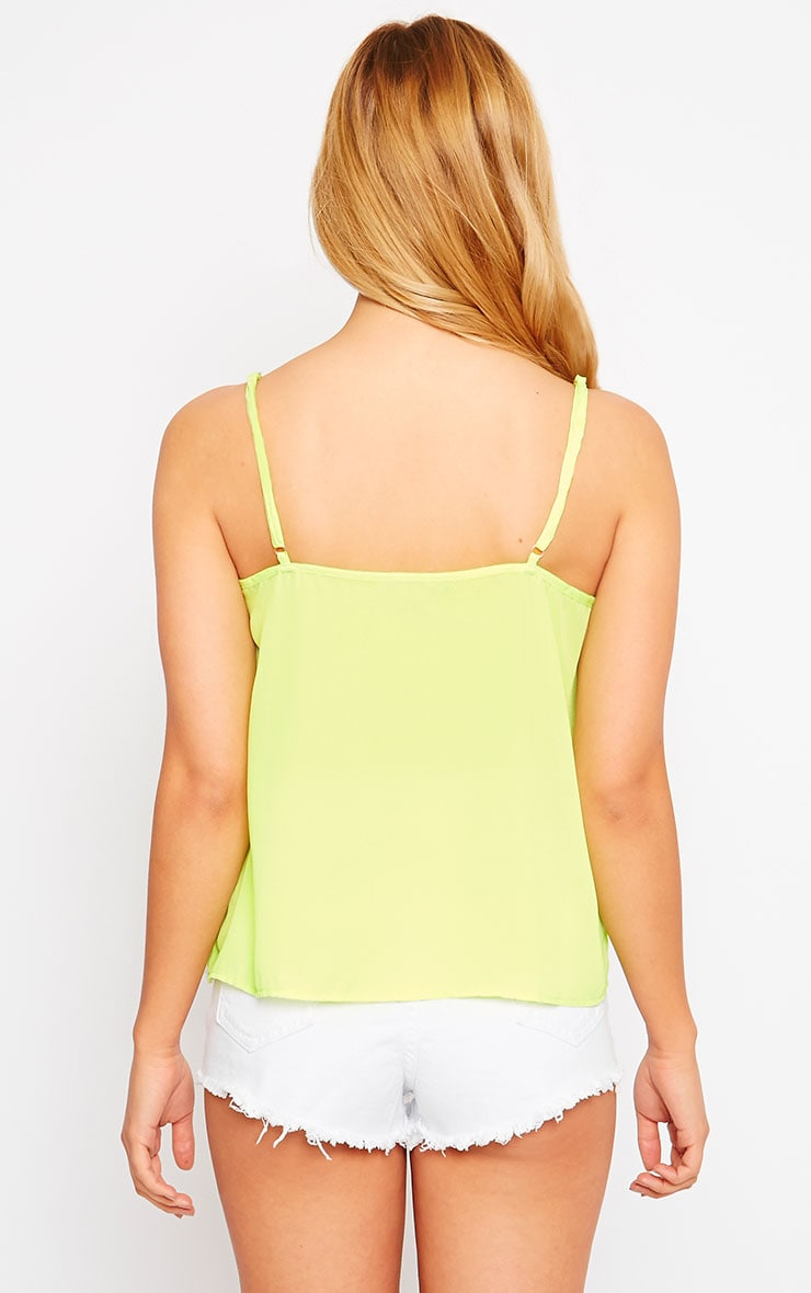 Mara Lime Button Up Cami 2