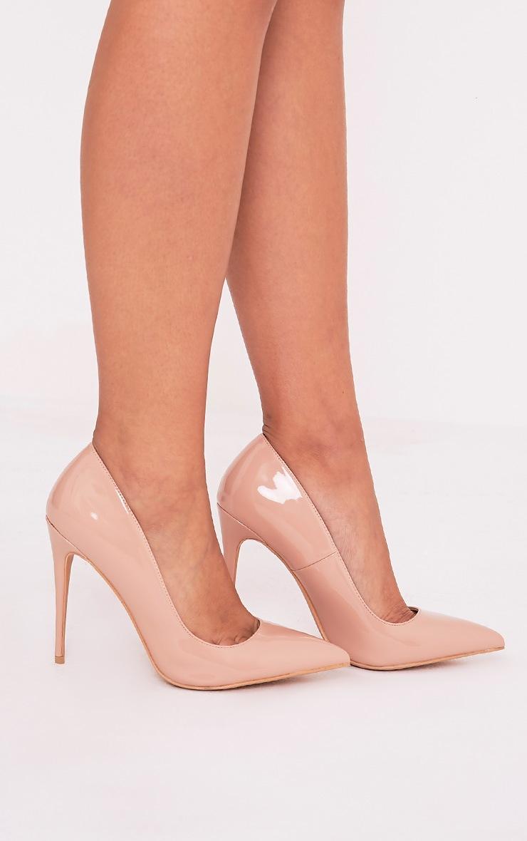 Karinna Nude Patent Pointed Heels 2