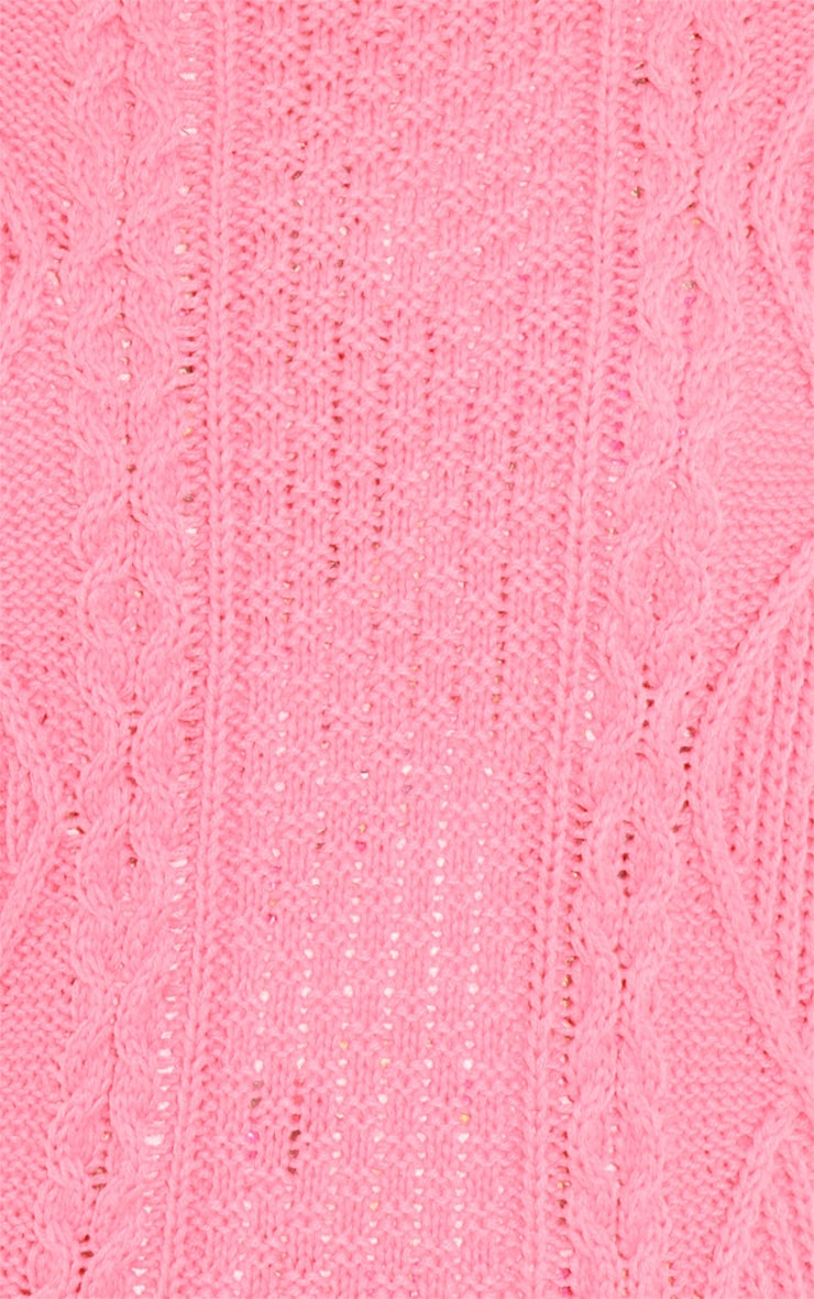 Alina Coral Cable Knit Jumper  5