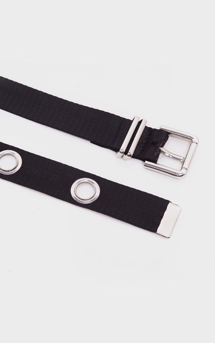 Black Eyelet Long Taping Belt 3