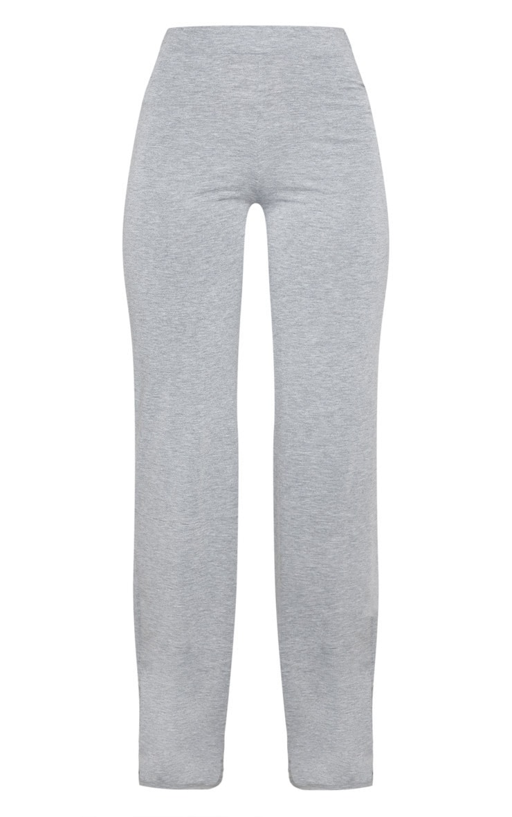 Grey With White Jersey Side Stripe Wide Leg Trouser 3