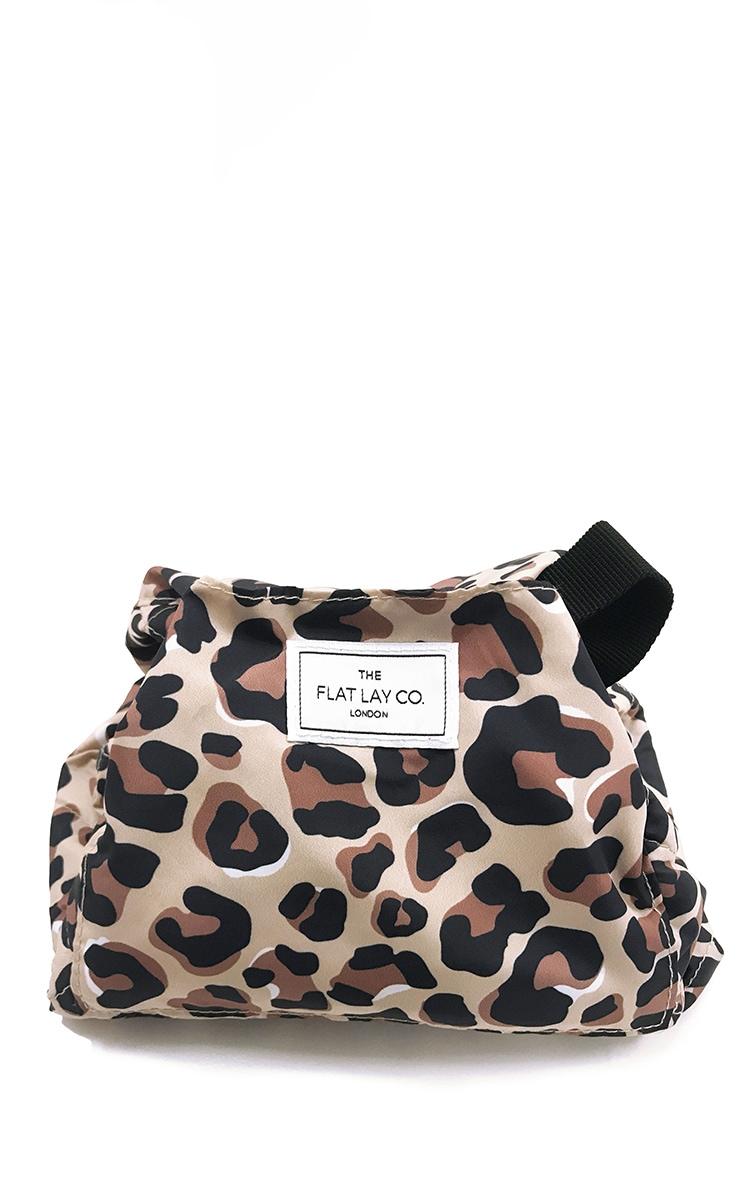 The Flat Lay co. Makeup Bag Leopard Print 2
