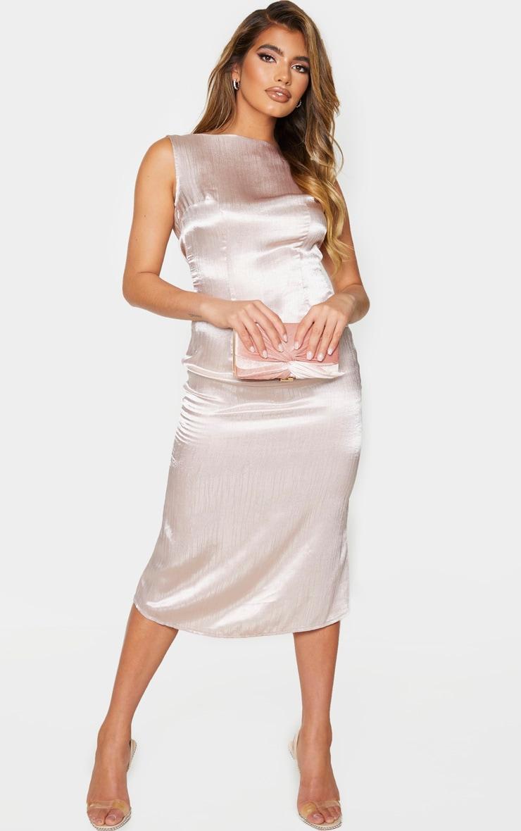 Nude Cowl Back Midi Slip Dress 2