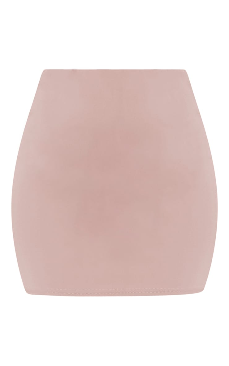 Milah Nude Scuba Mini Skirt 3