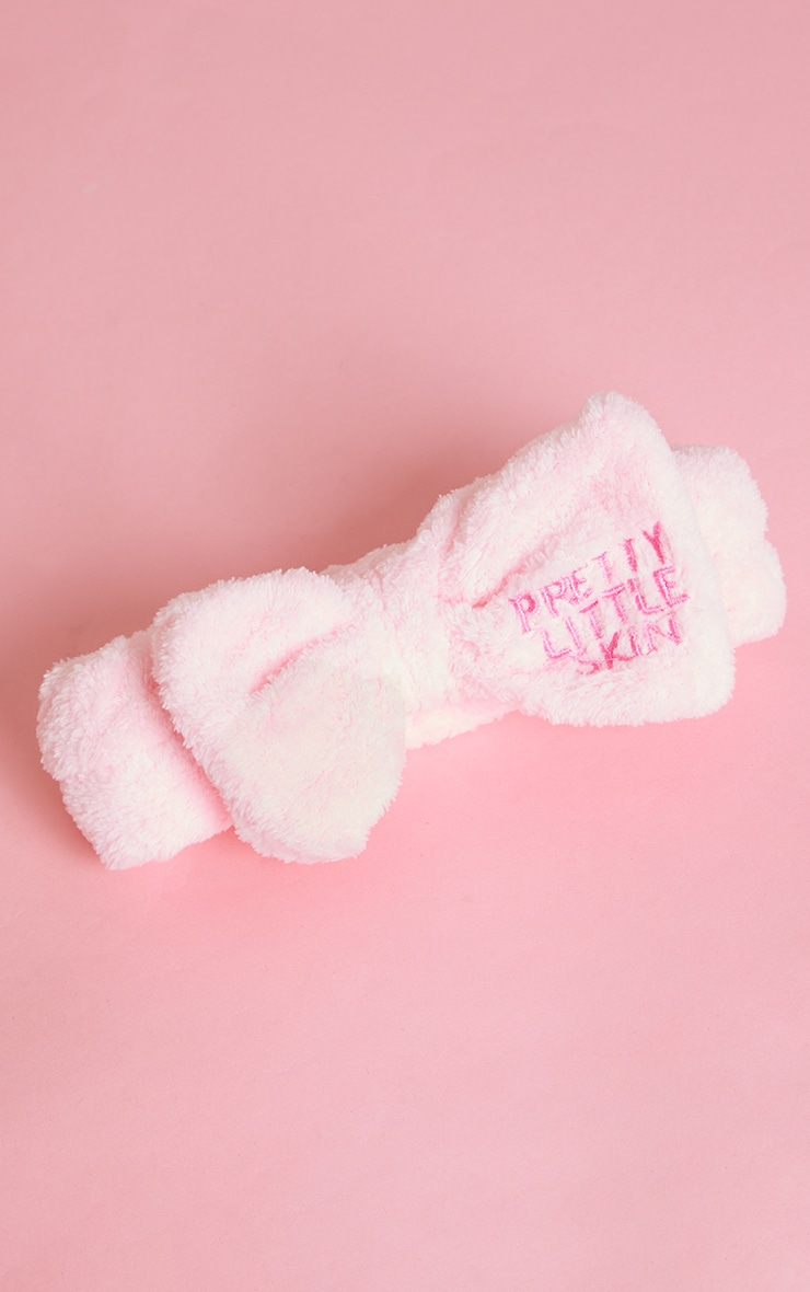 Pretty Little Skin Pink Bow Makeup Headband 1