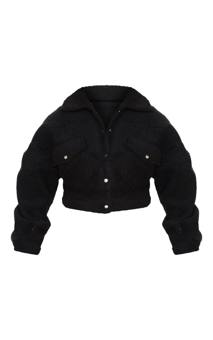 Black Borg Cropped Trucker Jacket 4