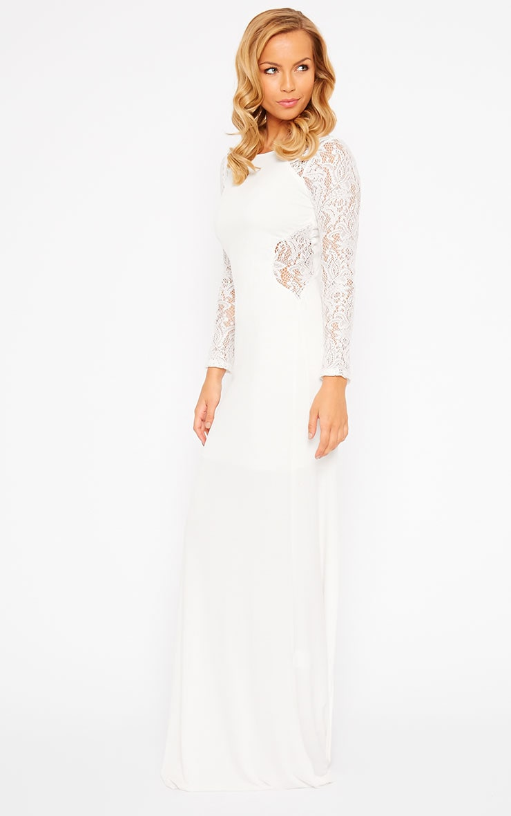 Debbie Cream Lace Insert Maxi Dress 4