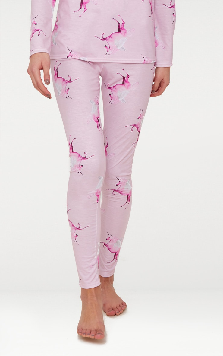 PRETTYLITTLETHING Unicorn Pink Long PJ Set 6