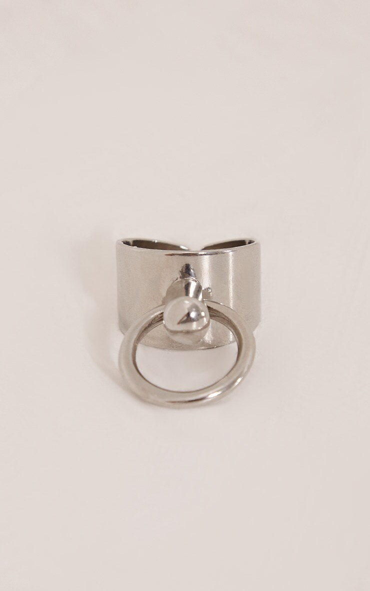 Deana Silver Adjustable Ring 2
