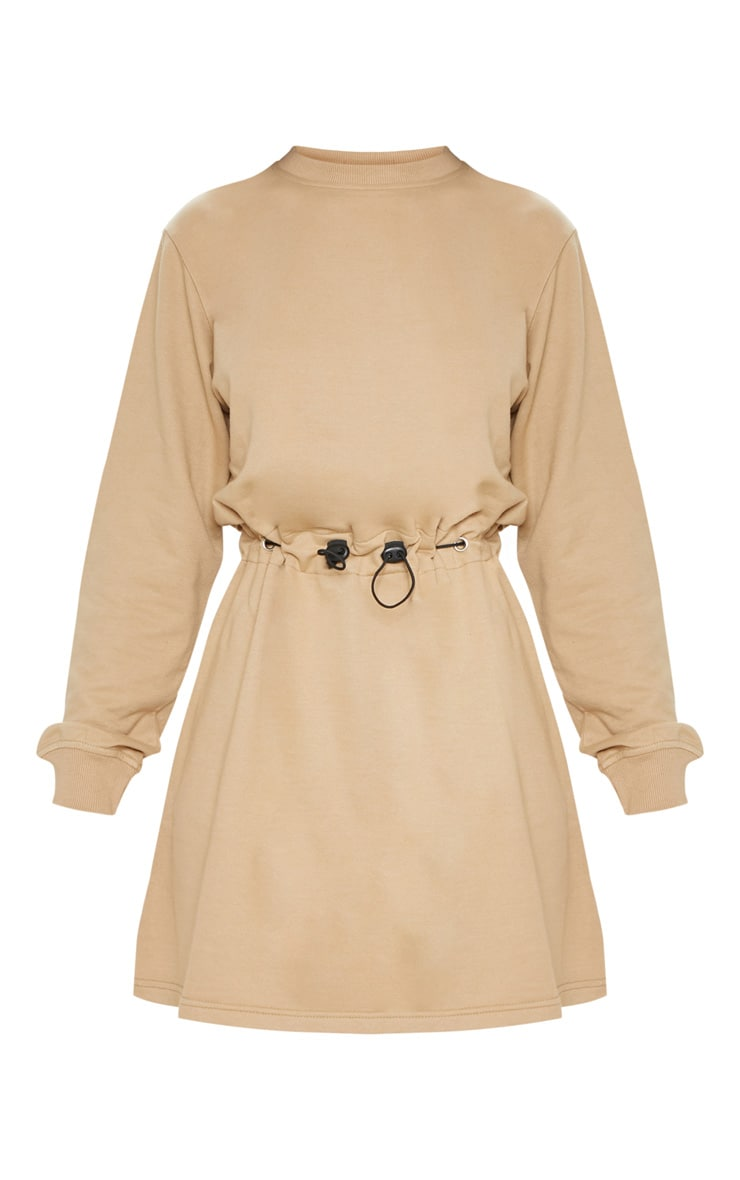 Sand Toggle Front Sweat Jumper Dress 3