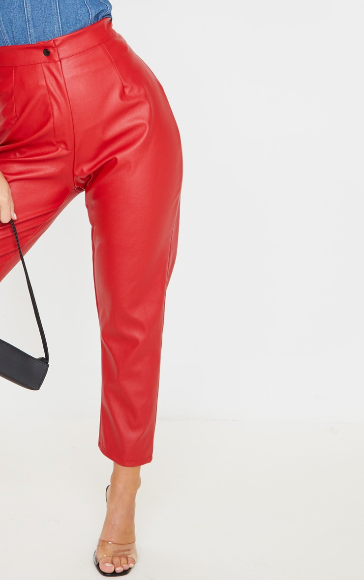 Scarlet Faux Leather Slim Leg Trousers 5