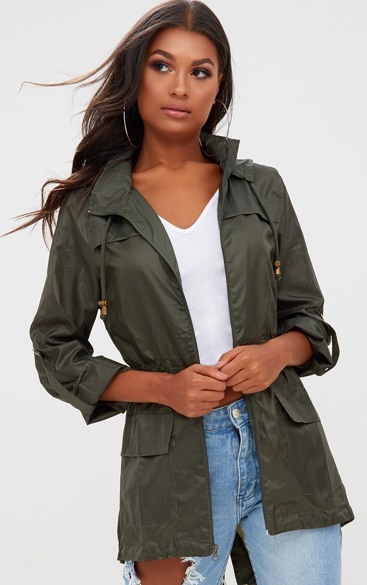 Khaki Waterproof Raincoat 1