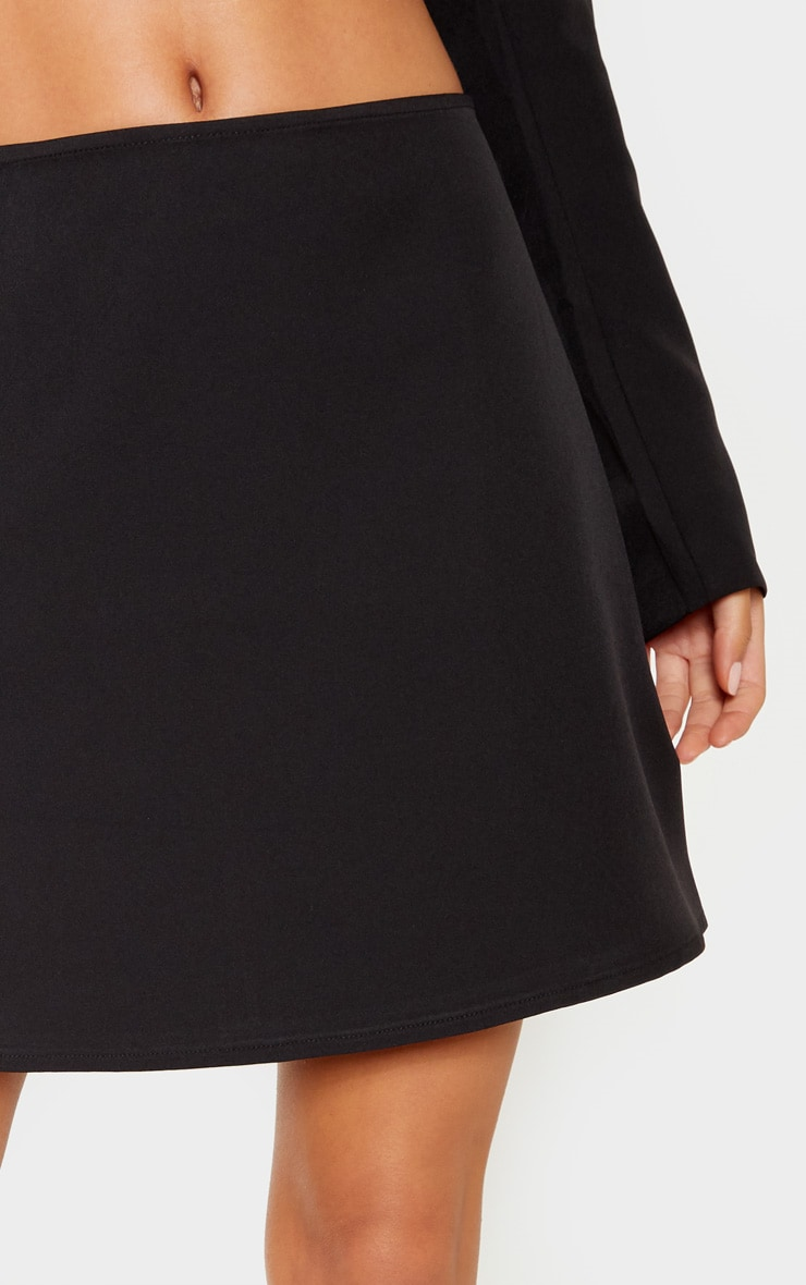 Black Woven A Line Mini Skirt 6