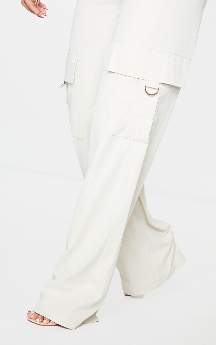 PRETTYLITTLETHING Shape Stone Buckle Detail Cargo Wide Leg Pants 4