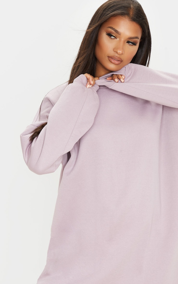 Dusty Lilac Oversized Sweater Dress 5