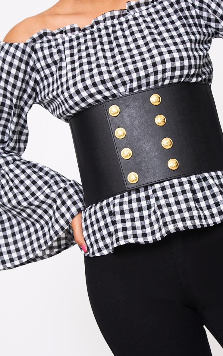 Black Buttoned Corset Belt 3