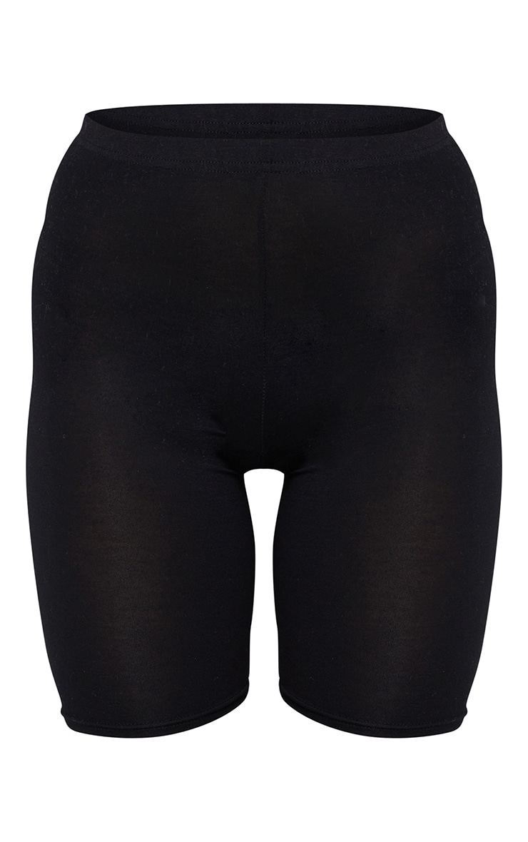 Basic Jersey Black Bike Shorts 6