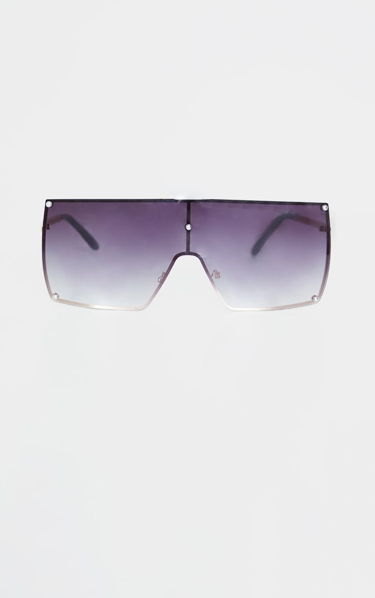 Black Ombre Oversized Square Frame Sunglasses 2