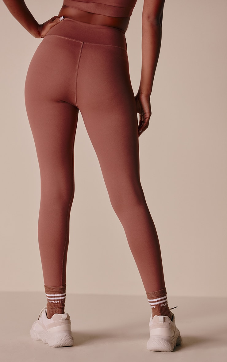 PRETTYLITTLETHING Toffee Sculpt Luxe Gym Leggings 3