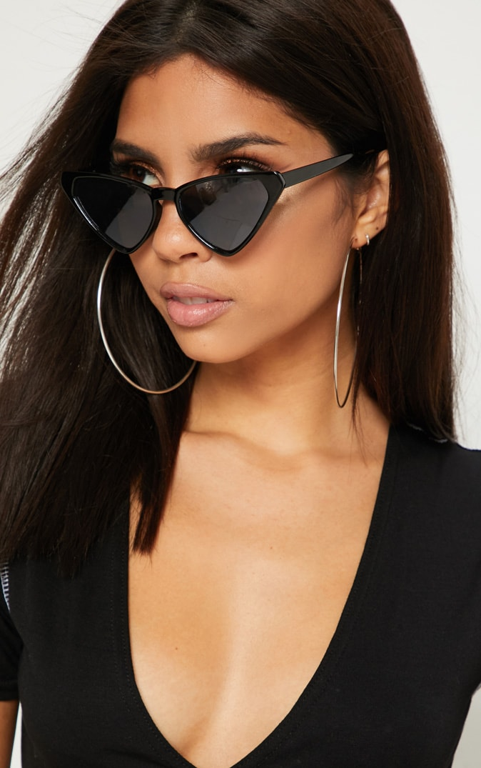 Black Wide Triangle Sunglasses Pretty Little Thing d1S8YpKP
