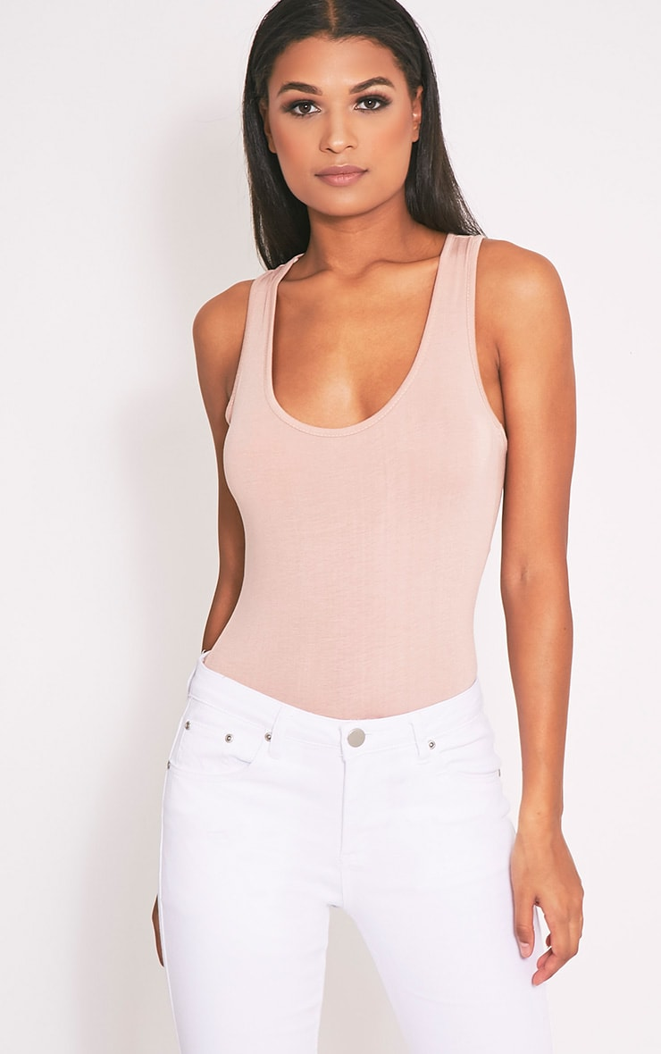 Basic Nude Racer Back Bodysuit