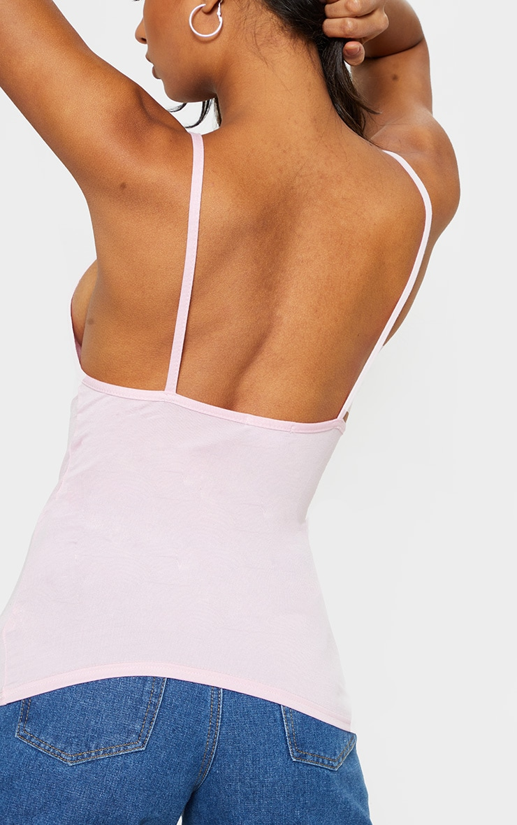 Baby Pink Jersey Low Back Vest 5