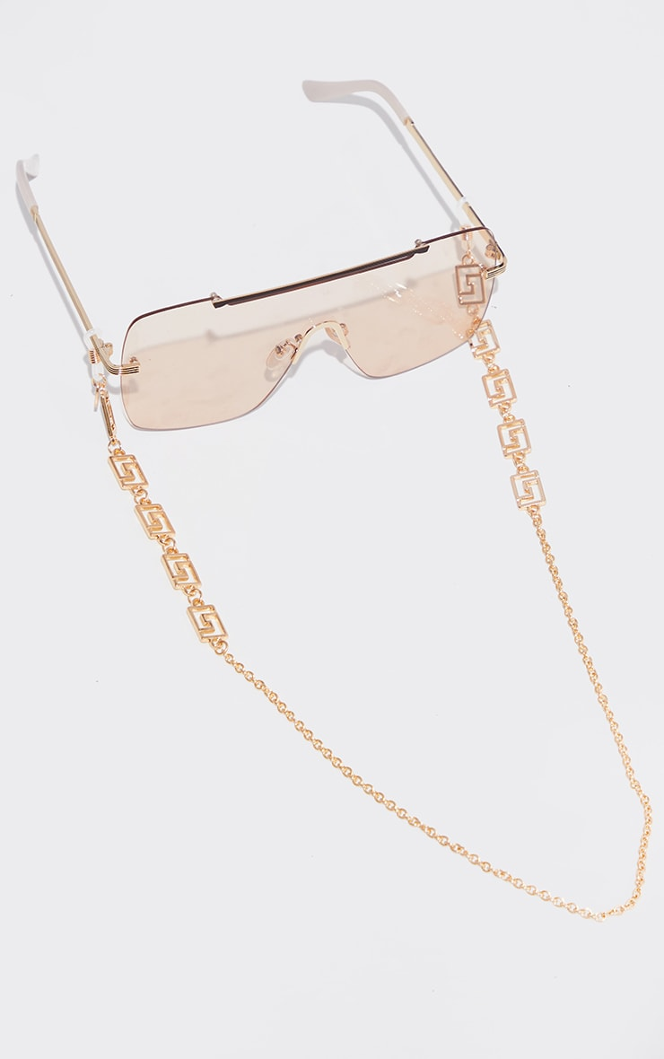 Gold Greek Link Sunglasses Chain 2