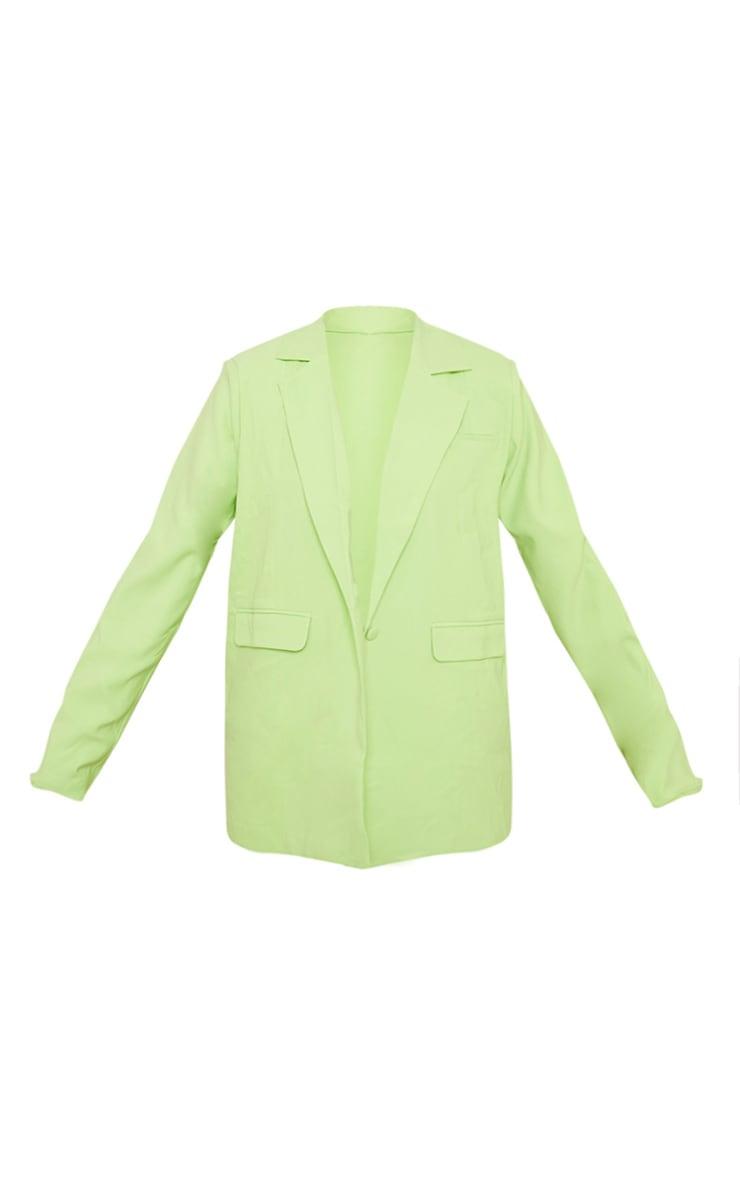 Plus Lime Oversized Blazer 5