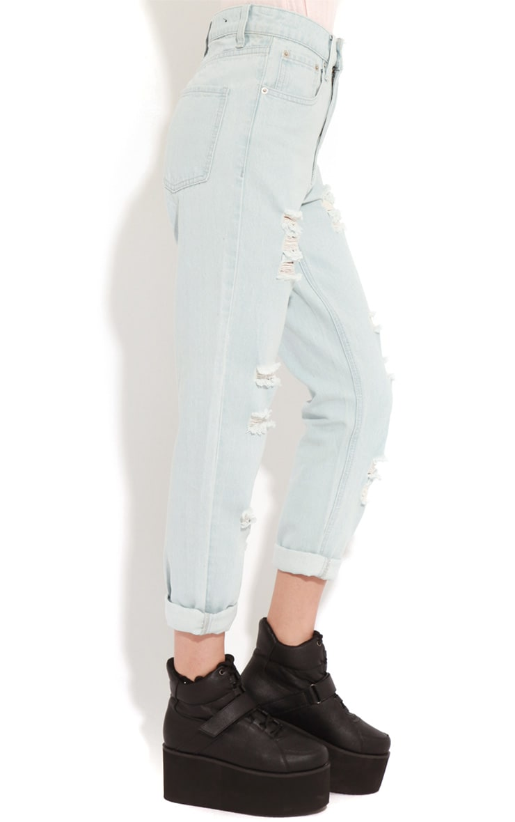 Rhianne Blue  Ripped Boyfriend Jeans  4