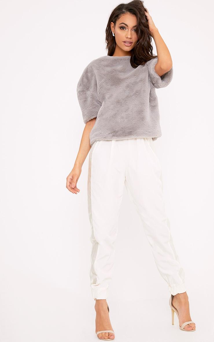 Daisi Grey Fluffy Sweater 4