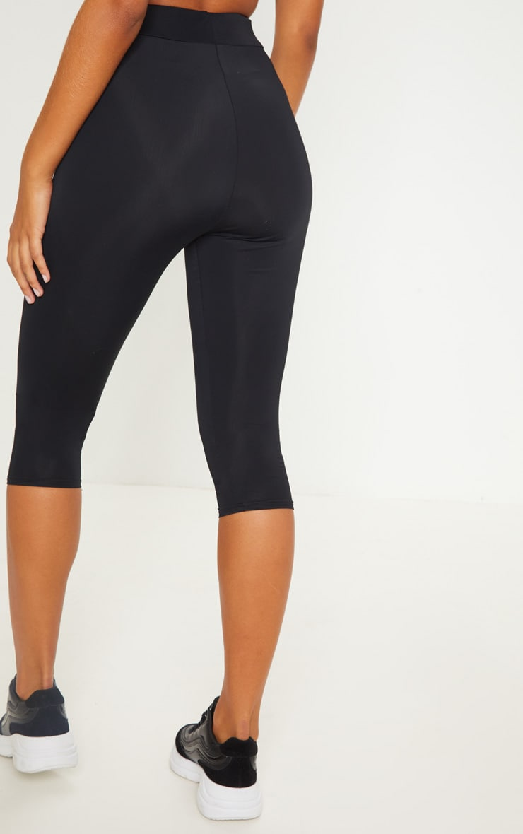 Black Basic Cropped Gym Legging 4