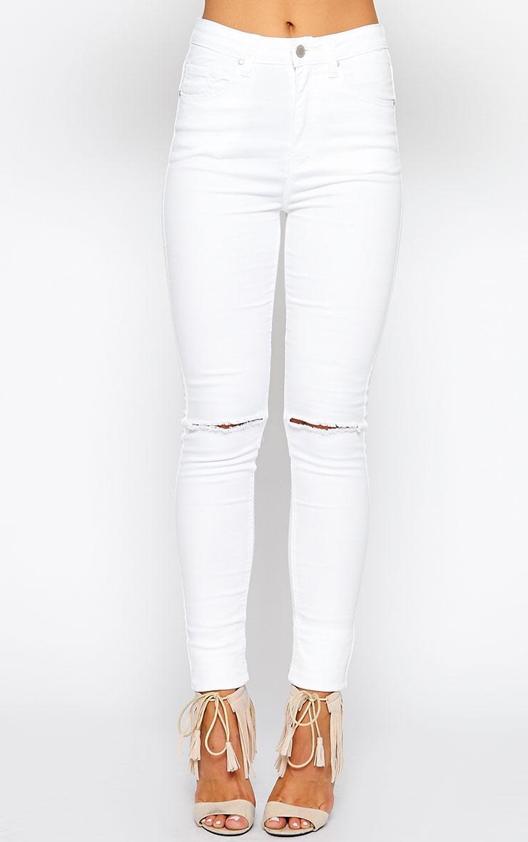 Lynn White Ripped Skinny Jean 2