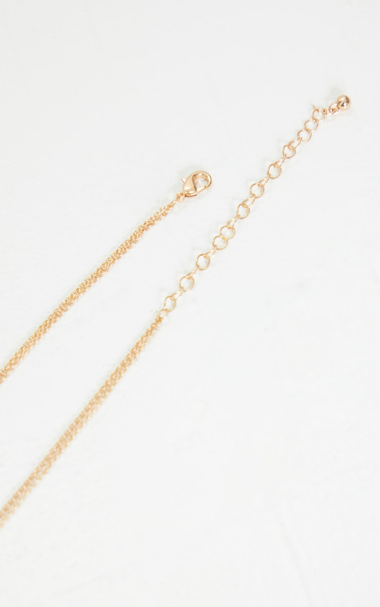 Gold Diamante Tag And Ball Charm Layering Necklace 3
