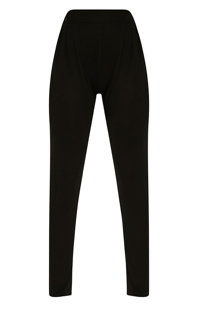 Rana Black Jersey High Waisted Joggers 3
