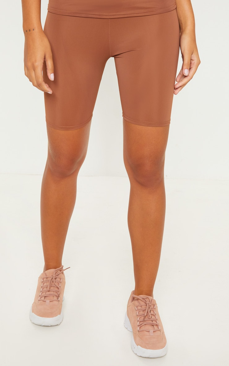 Brown Basic Gym Cycle Short 2