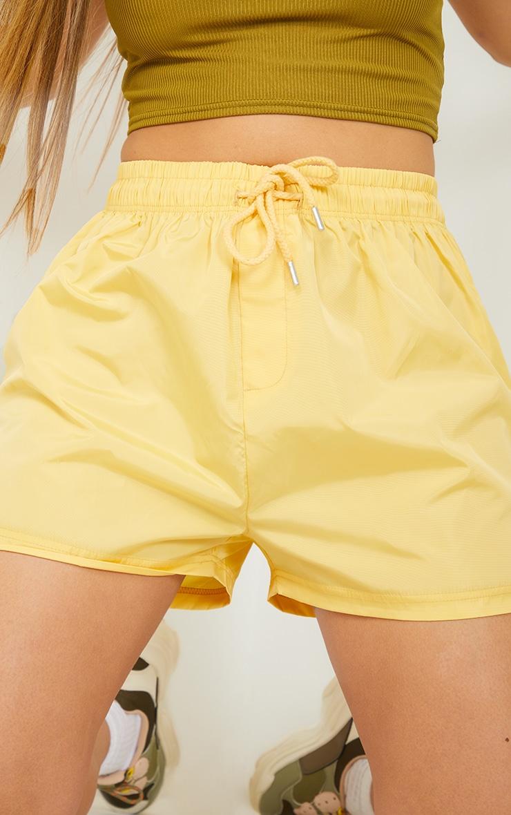 Lemon Yellow Shell Runner Shorts 5