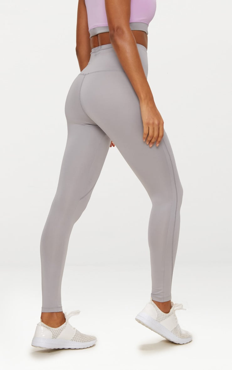 Grey High Waisted Sports Leggings 4