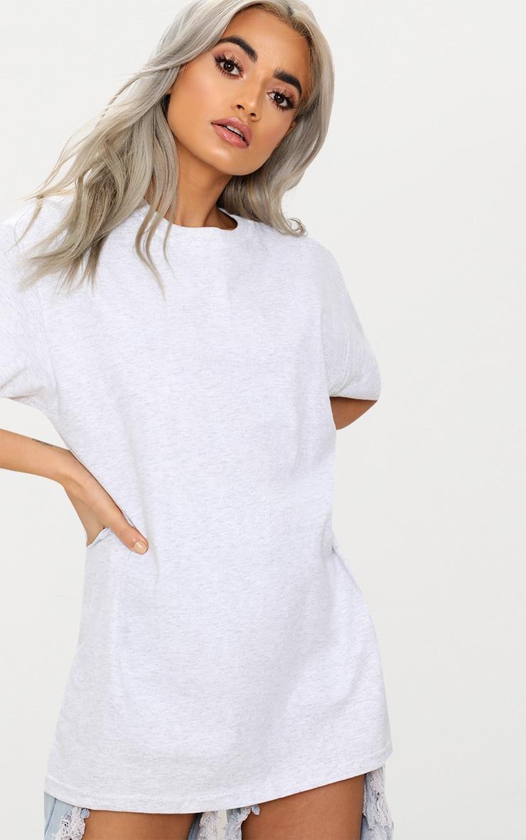 Grey Oversized Boyfriend T Shirt 2