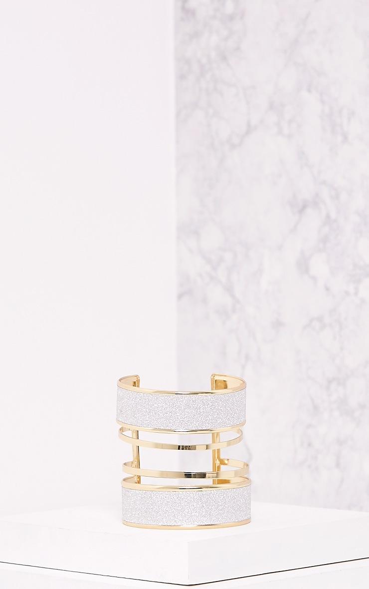 Gabi Gold Glitter Detail Bangle 4