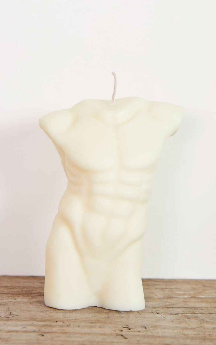 White Large Male Body Candle 14cm 3