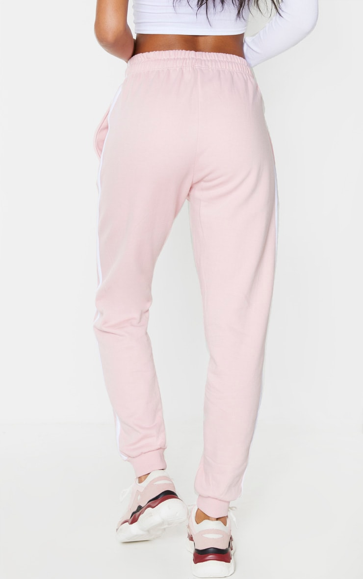 Pink Double Side Stripe Joggers 3