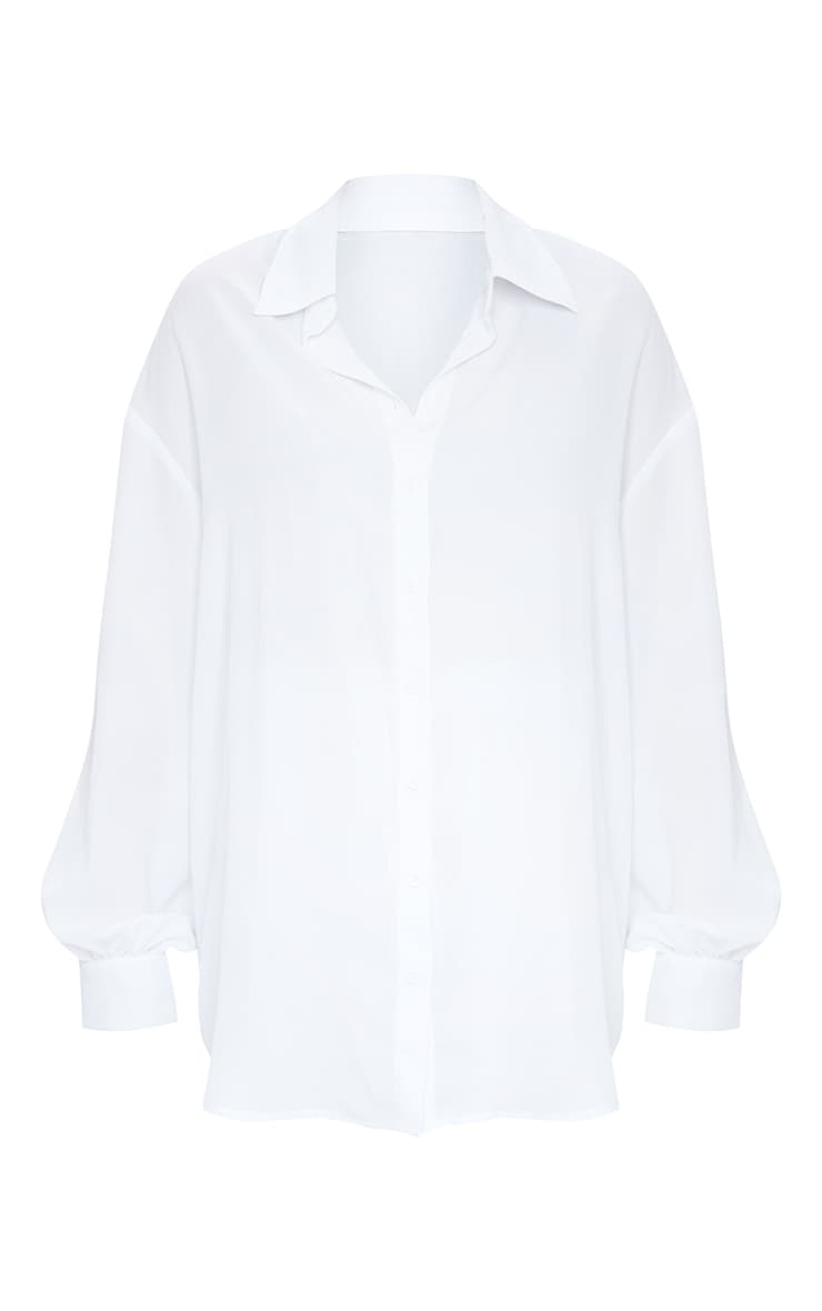 Plus White Oversized Beach Shirt 5