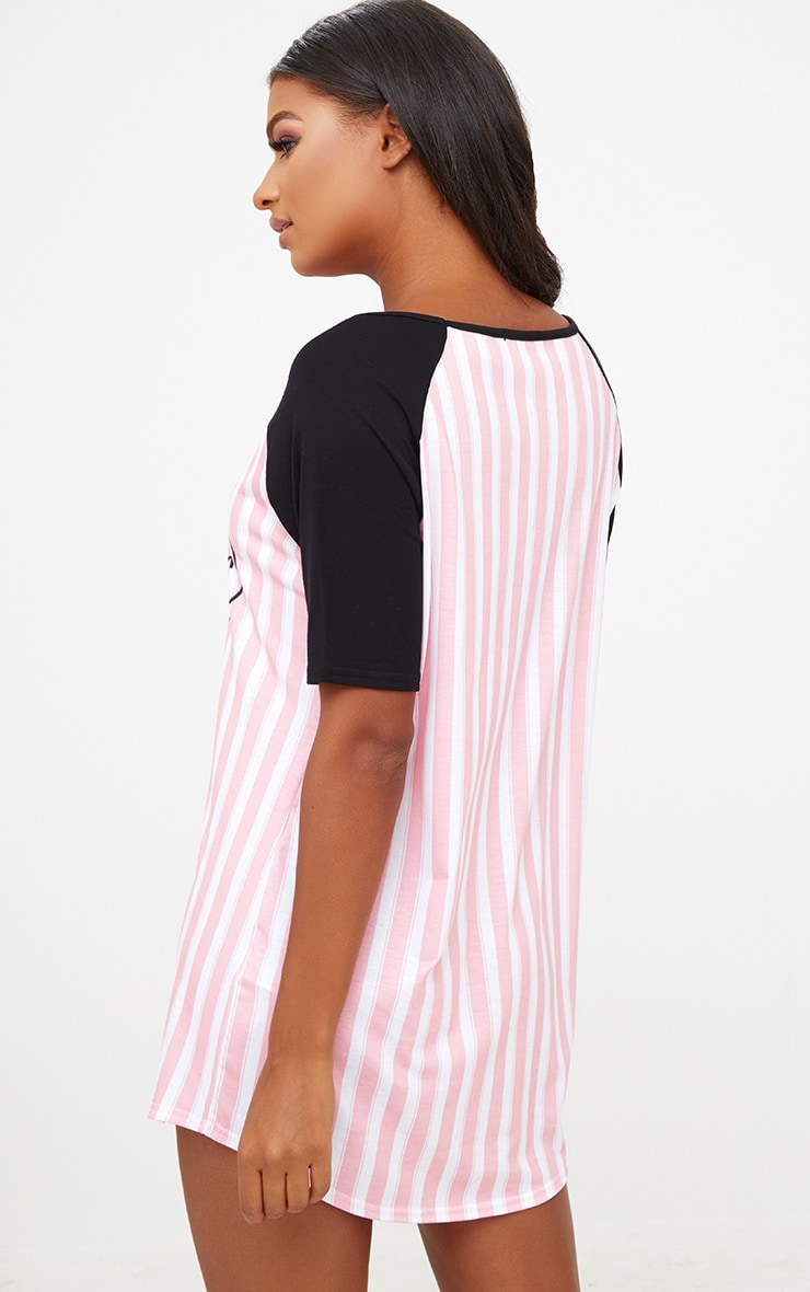 Pink Dreamer Striped Nightie 2